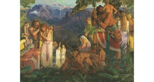 Alma Baptizes in the Waters of Mormon, by Arnold Friberg  LDS media library, Book of Mormon - All Gospel Art, www.lds.org