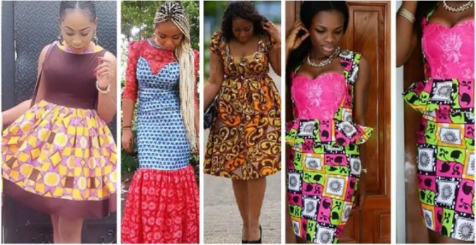 aso ebi ankara styles short gowns-amillionstyless