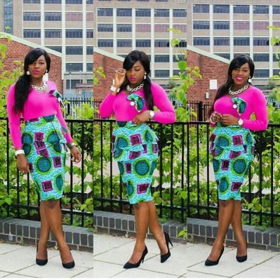 ankara combination short skirts-amillionstyles2