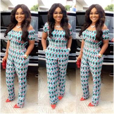 Fashion For Church Mercy Aigbe Off Shoulder - AmillionStyles