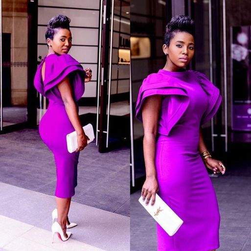 Rocking Single Colour Aso Ebi Full Gown. @pam_madlala amillionstyles