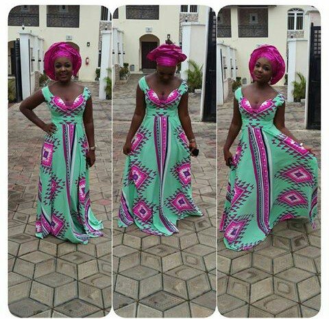 Latest Full Gown Ankara Styles amillionstyles.com @misscold4