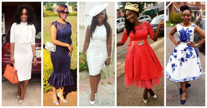 10 Stylish Plain Or Patterned Dresses for Church amillionstyles.com