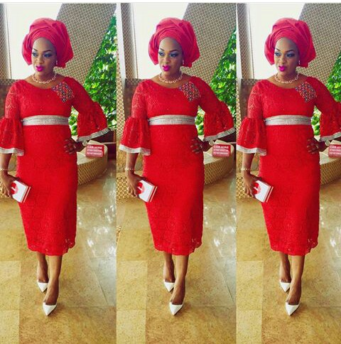 Classy Aso Ebi Styles In Lace Worn Over The Weekend  @chelsdomm