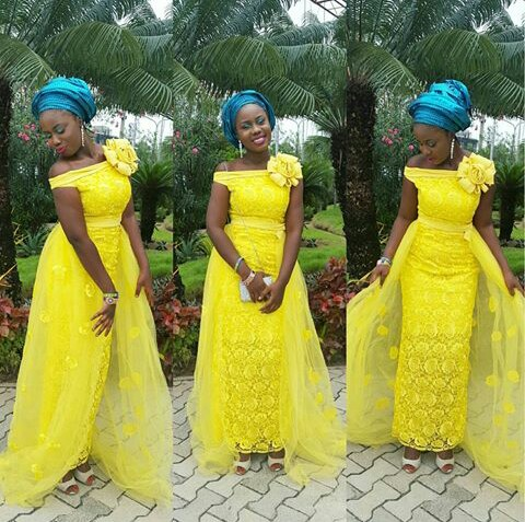 Aso Ebi Styles With This Trending Lace Designs-amillionstyles @cjumjum