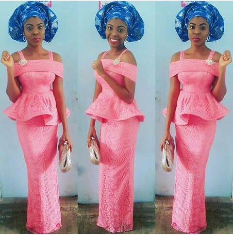 Aso Ebi Styles With This Trending Lace Designs-amillionstyles @eloholic