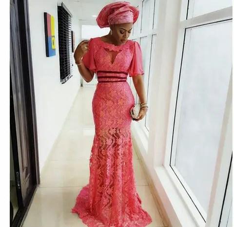 Aso Ebi Styles With This Trending Lace Designs-amillionstyles @esebrodricks-