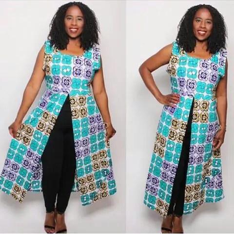 Fabulous Ankara Kimono Jacket amillionstyles @_chenayii
