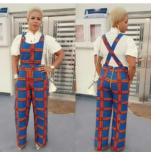 Colorful Ankara In Dungarees Style @tariwills