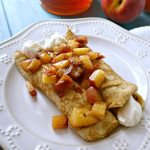 Peaches and Cream Crepes Whole Wheat. Naturally sweetened.