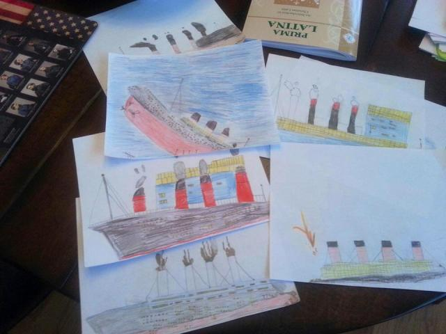 Nick's drawings of Titanic