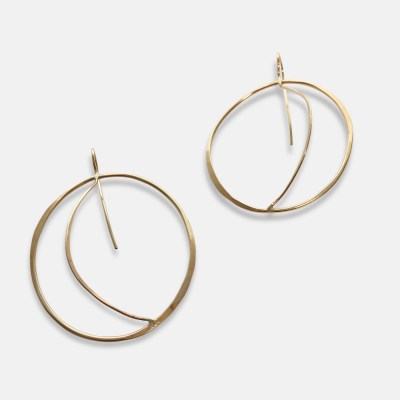 Gold Doric Earrings