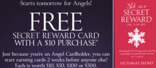 victorias secret angel card