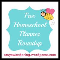 Free Homeschool Planner Roundup