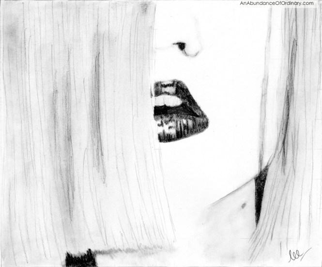 Hot Lips, Graphite Drawing - Lee Scott ©