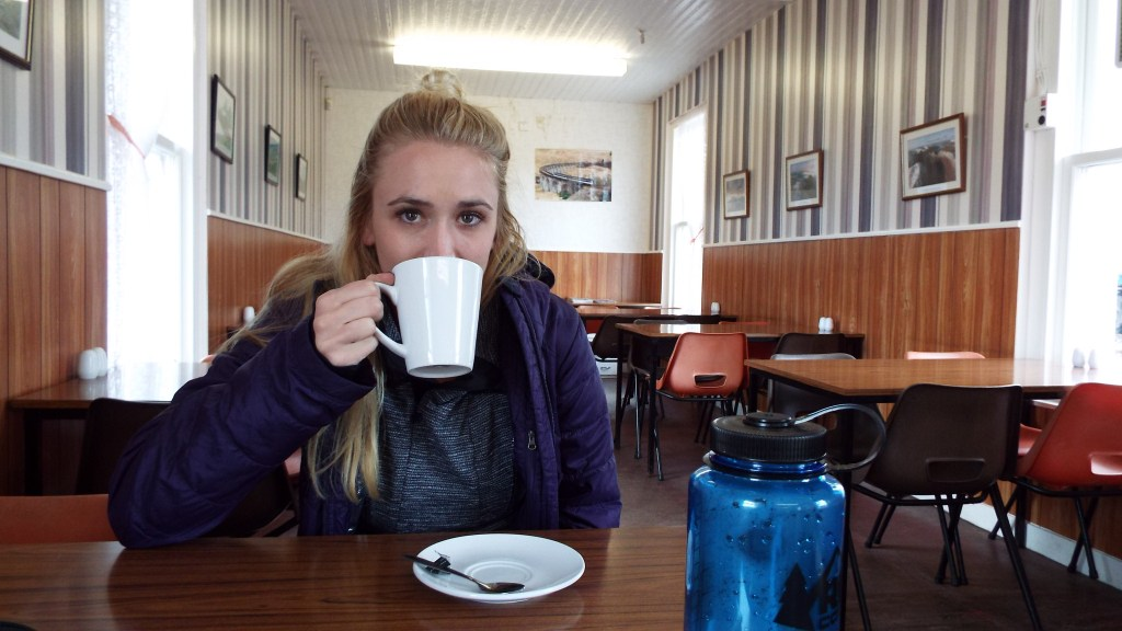Early on the drive up we stopped for lunch at a town called Crianlarich. The first sign of food was a tea room at the train station.
