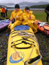 No, a double kayak has the kayakers front and back, not side to side