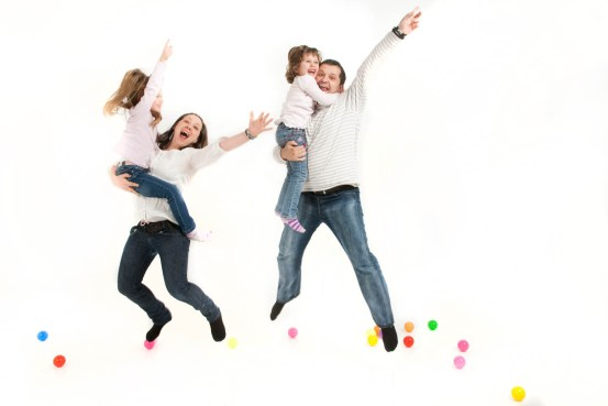 Family group jump portrait professional studio photography by Anais Chaine in Auckland Ponsonby New Zealand