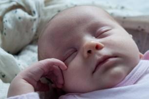 new born peacefully sleeping