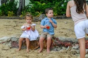 Babies mocktails on Malolo Island Resort Fiji