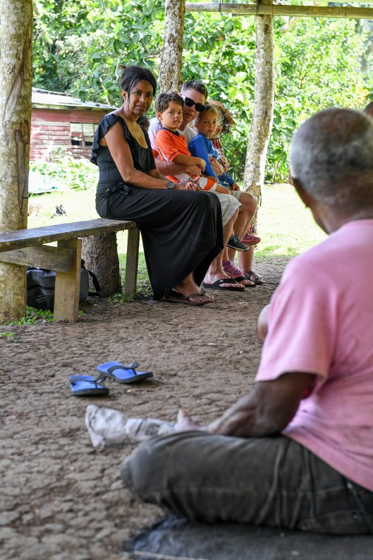 Family watches Fiji traditional prayers