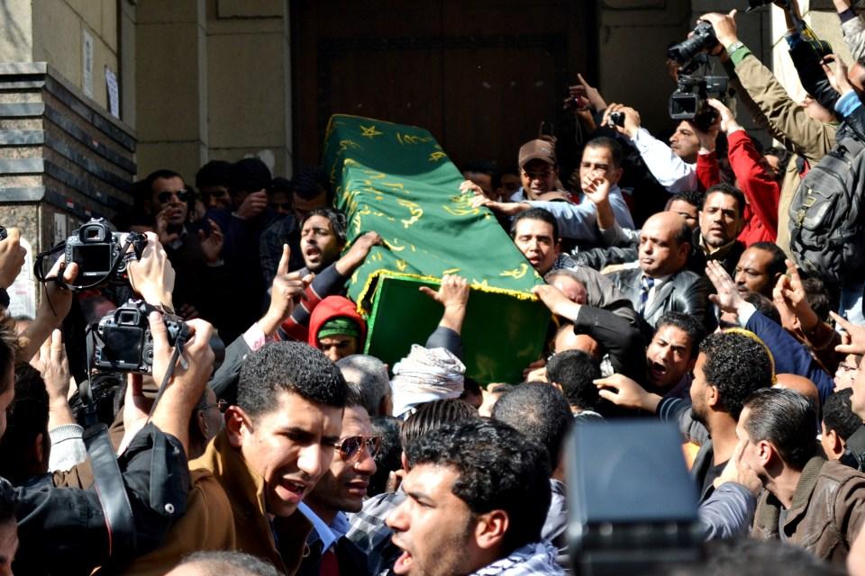 جثمان الشهيد محمد الجندي