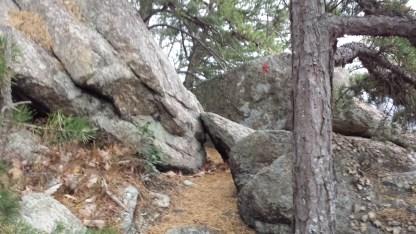 Brimstone Trail rocky section