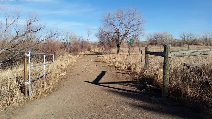Entrance to Bear Creek Ditch Trail