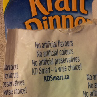 "Cheese packet for Kraft Dinner ""Smart"""