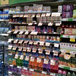 "Grocery store aisle - ""Natural"" section"