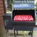 Tomatoes on the outdoor smoker