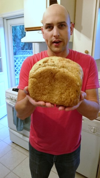 Mike w/ homemade bread