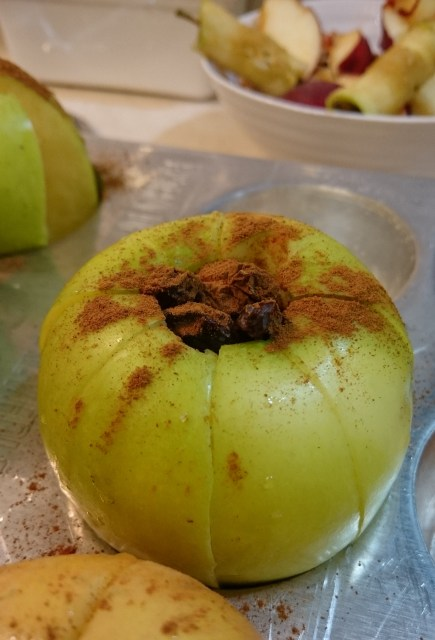 apple ready to go in the oven
