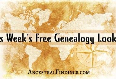 This Week's Free Genealogy Lookups (December 21)
