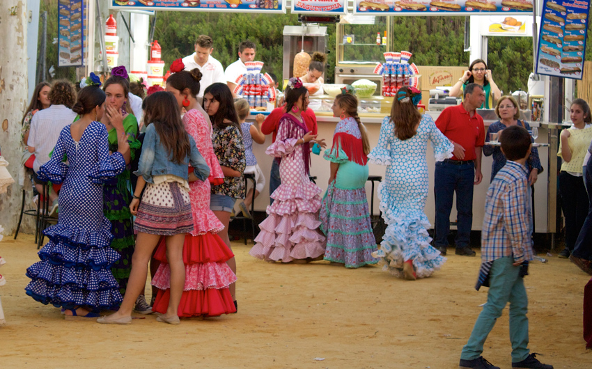 Teens in Feria Dresses