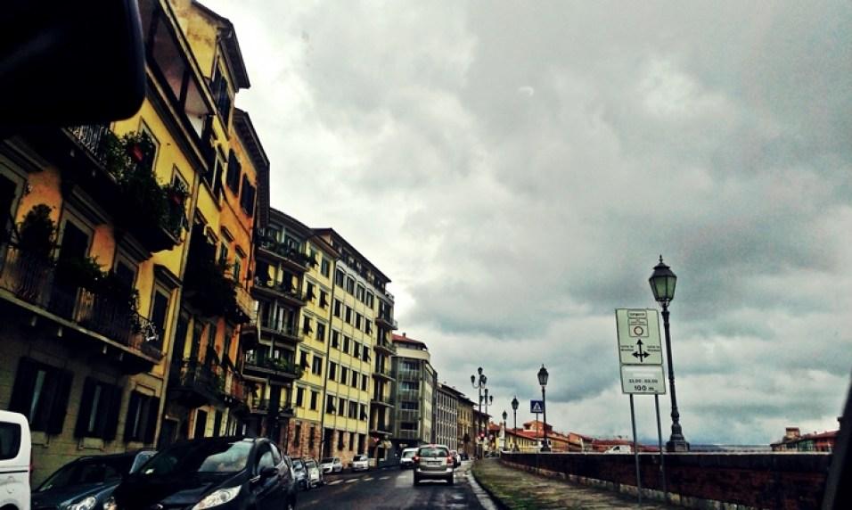 Pisa, pe ploaie
