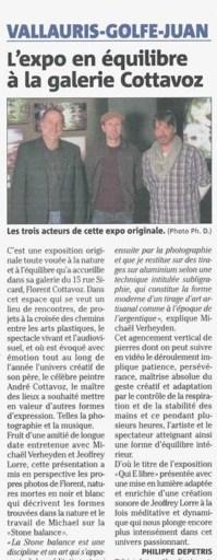 VALLAURIS-GOLFE-JUAN L'expo en équilibre à la galerie Cottavoz