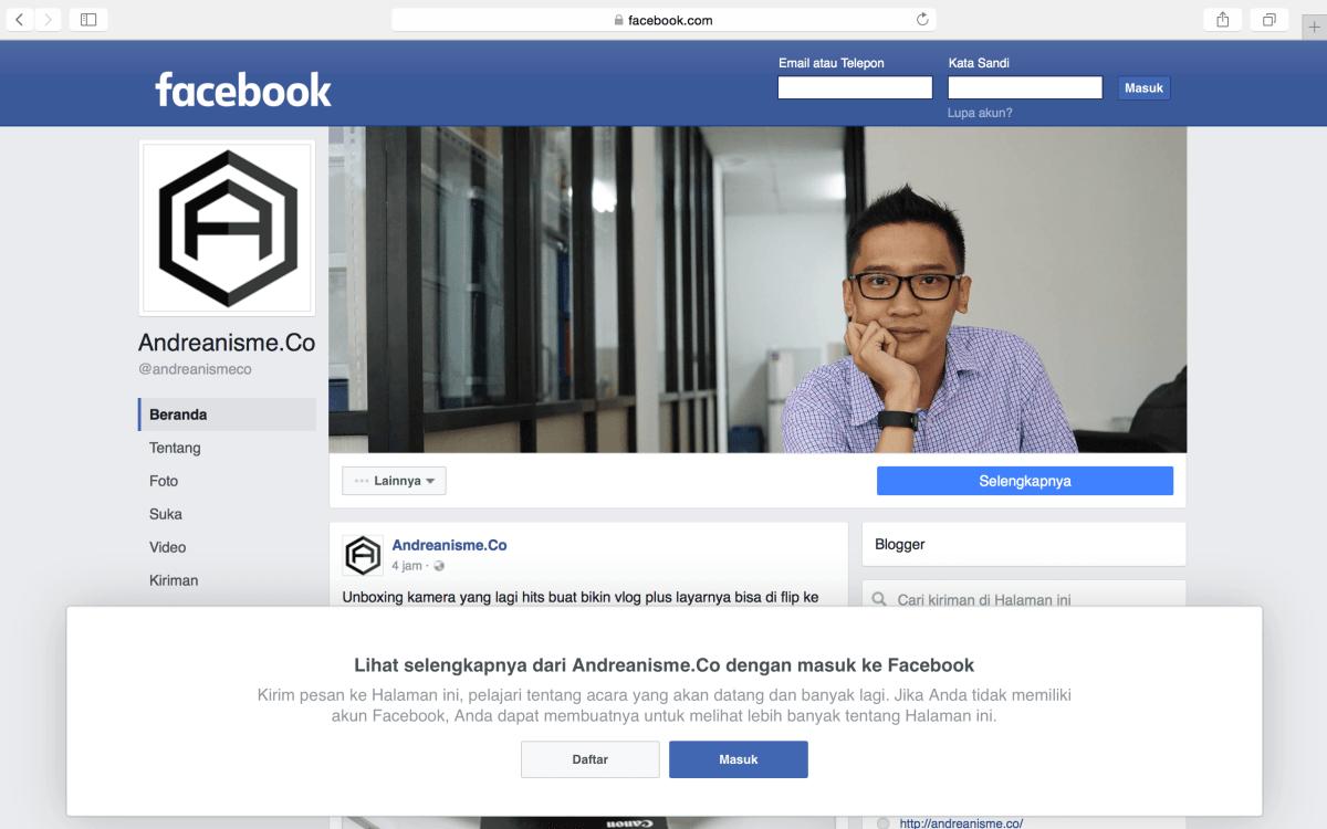 Bikin Facebook Pages!