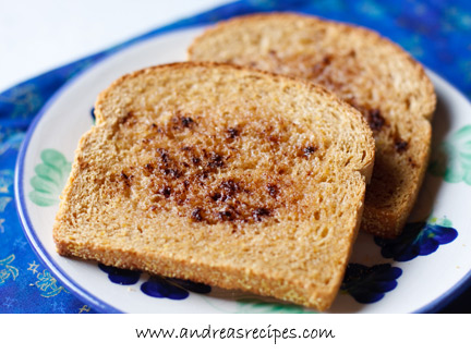 Andrea's Recipes - Anadama Bread (toasted with cinnamon and sugar)