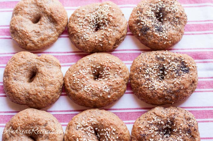 Andrea's Recipes - Whole Wheat and Rye Bagels
