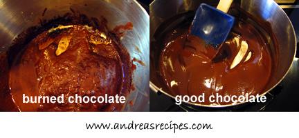 Bostini Cream Pie, burned chocolate & good chocolate
