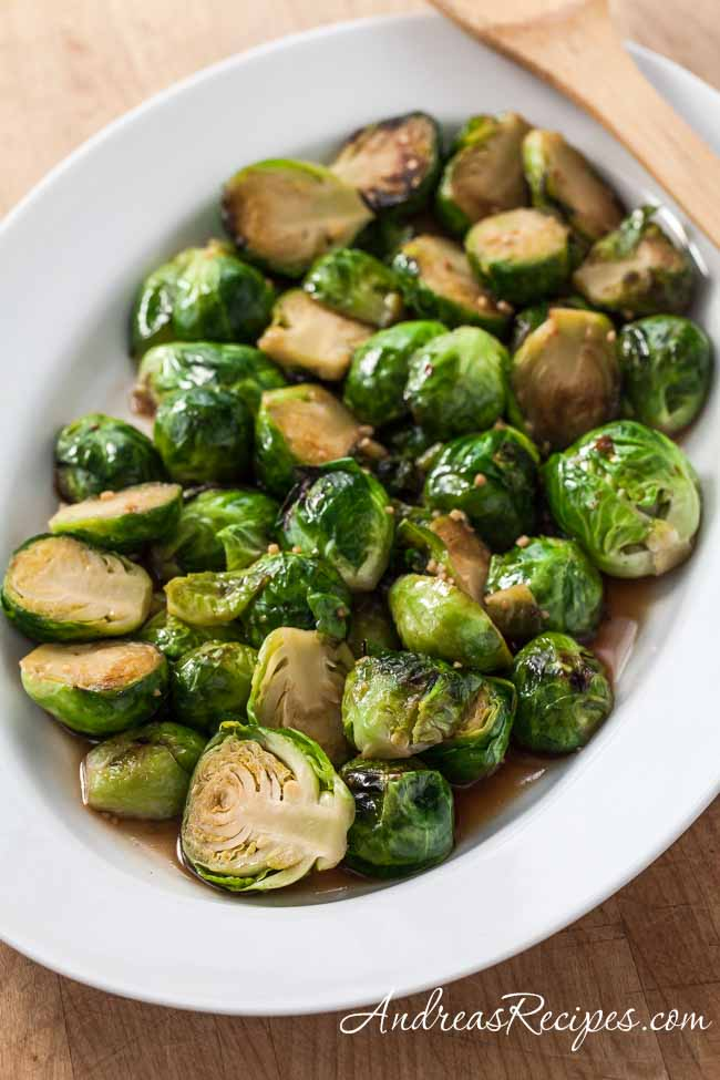 Thai Stir-Fried Brussels Sprouts - Andrea Meyers