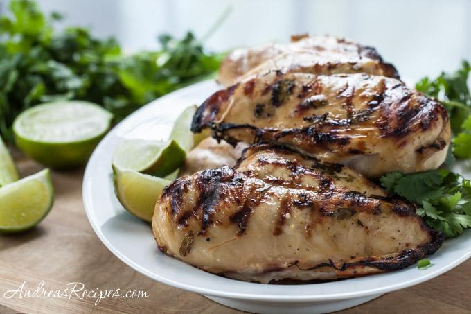 Tequila Lime Chicken Fajitas - Andrea Meyers
