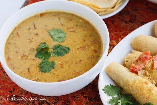 Andrea Meyers - The Daring Cooks Make Vegan Dosas (Coconut Curry Sauce)