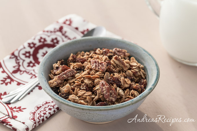 Andrea Meyers - Maple Pecan Granola