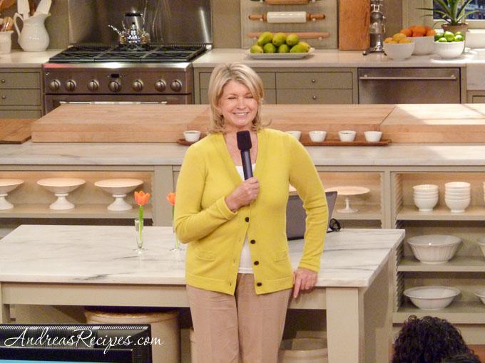 Andrea Meyers - Martha Stewart, during Q&A