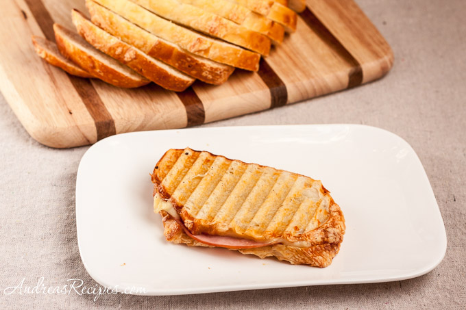 Andrea Meyers - Ham and Swiss Panini with Panera Asiago Bread