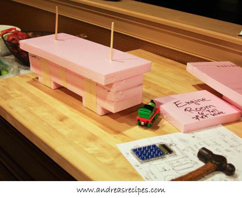 Andrea Meyers - Percy Train Birthday Cake base