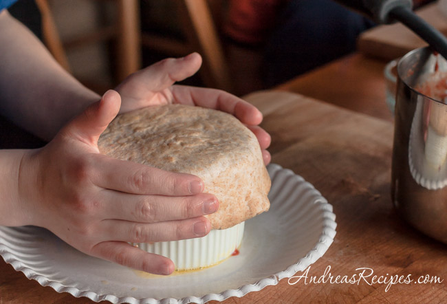 Andrea Meyers - pizza pot pie, putting on the dough