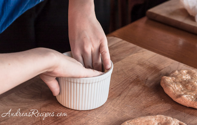 Andrea Meyers - pizza pot pie, adding the cheese